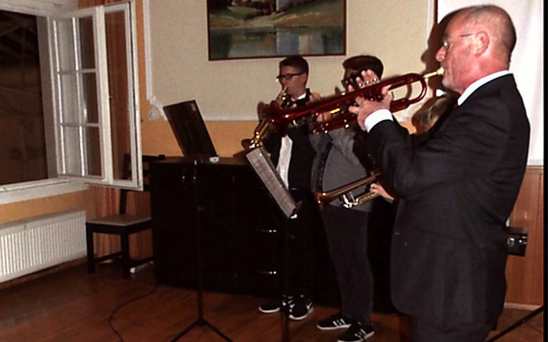 Trompetenensemble der Kreismusikschule Goettingen beim Jahresempfang des Regionalverbandes Harz