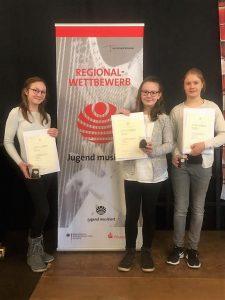 Gewinnerinnen beim Regionalwettbewerb Jugend musiziert